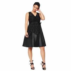 💕Michel Studio black peplum lace dress size 18!